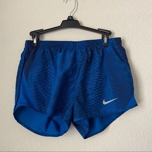 Nike Shorts - 3/ 25 Blue Nike Dri-Fit lined Shorts SZ Small
